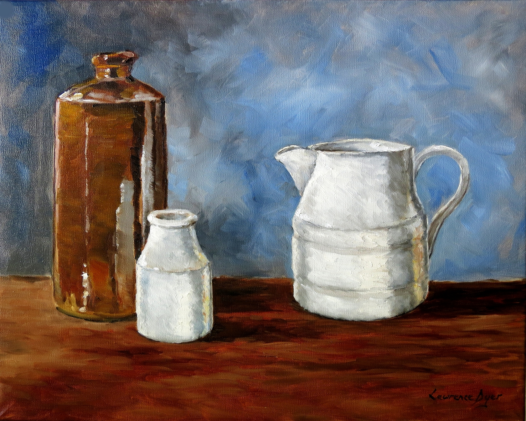 Ink and Milk Pots by Lawrence Dyer