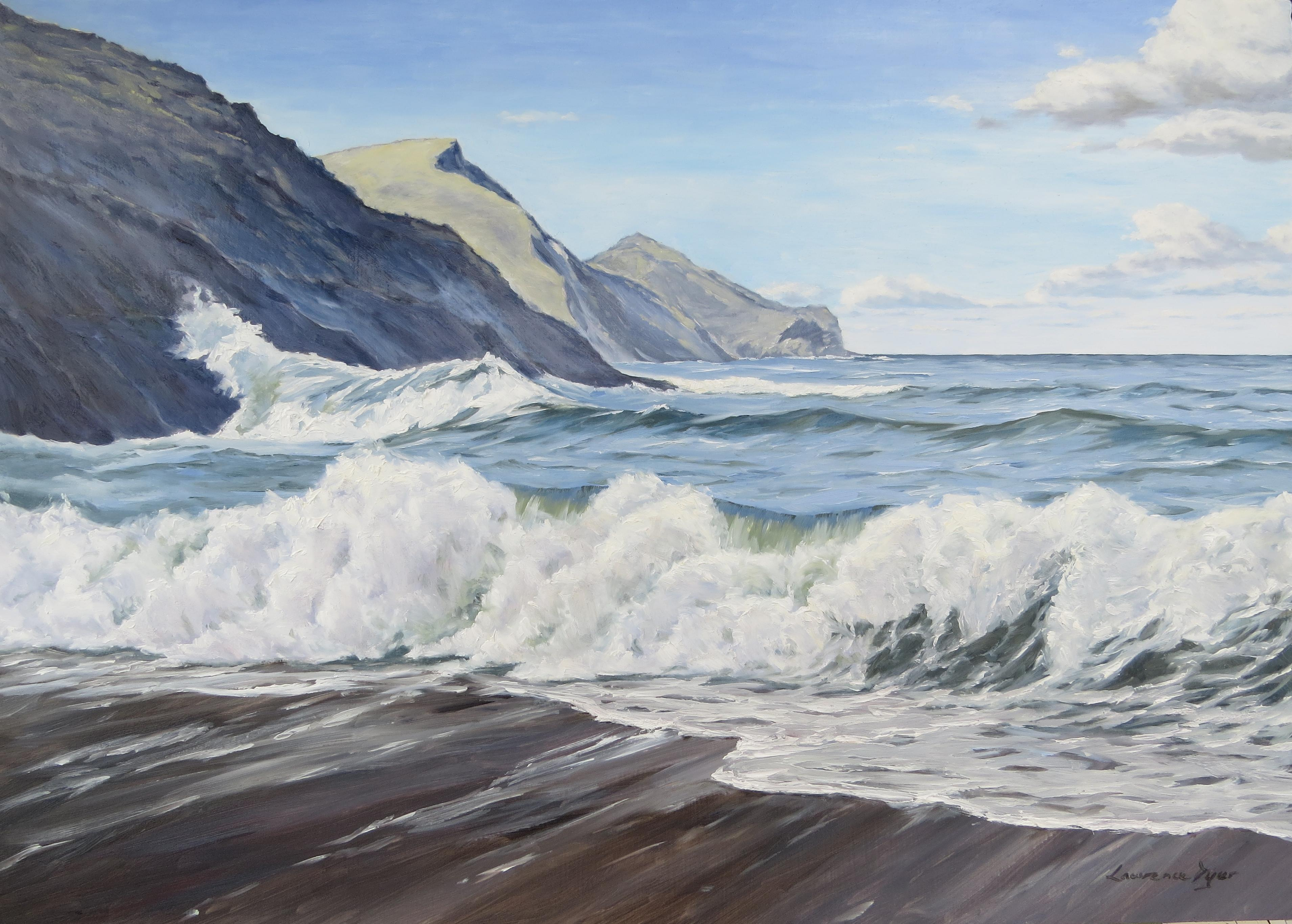 An April Morning At Crackington Haven by Lawrence Dyer