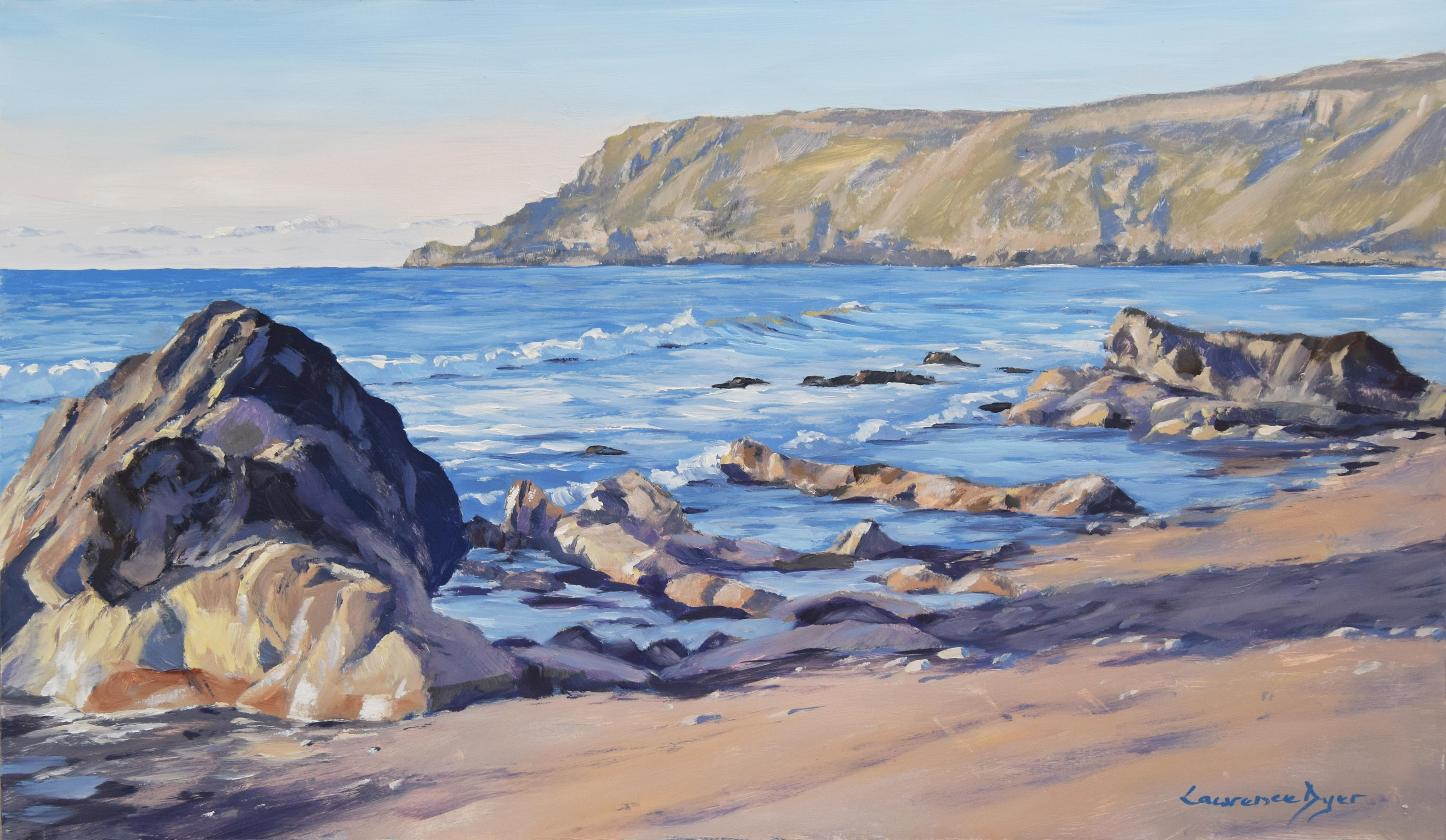 April At Widemouth Bay by Lawrence Dyer