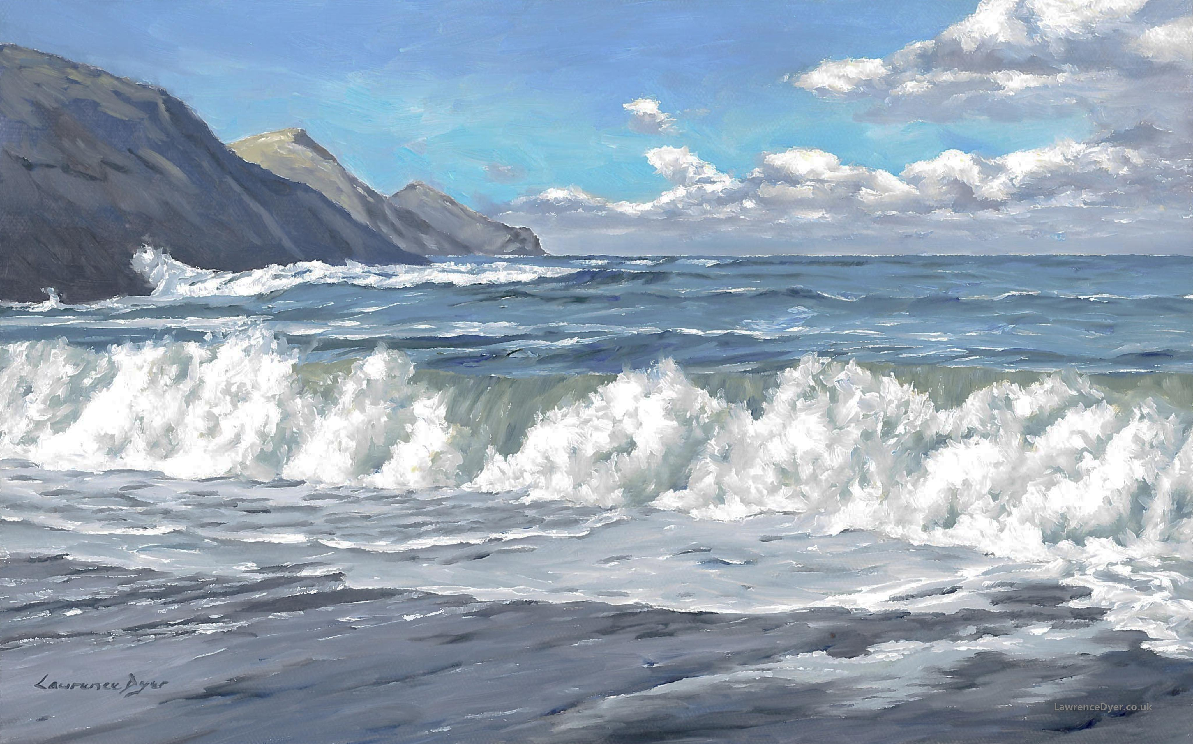 March Morning At Crackington Haven by Lawrence Dyer