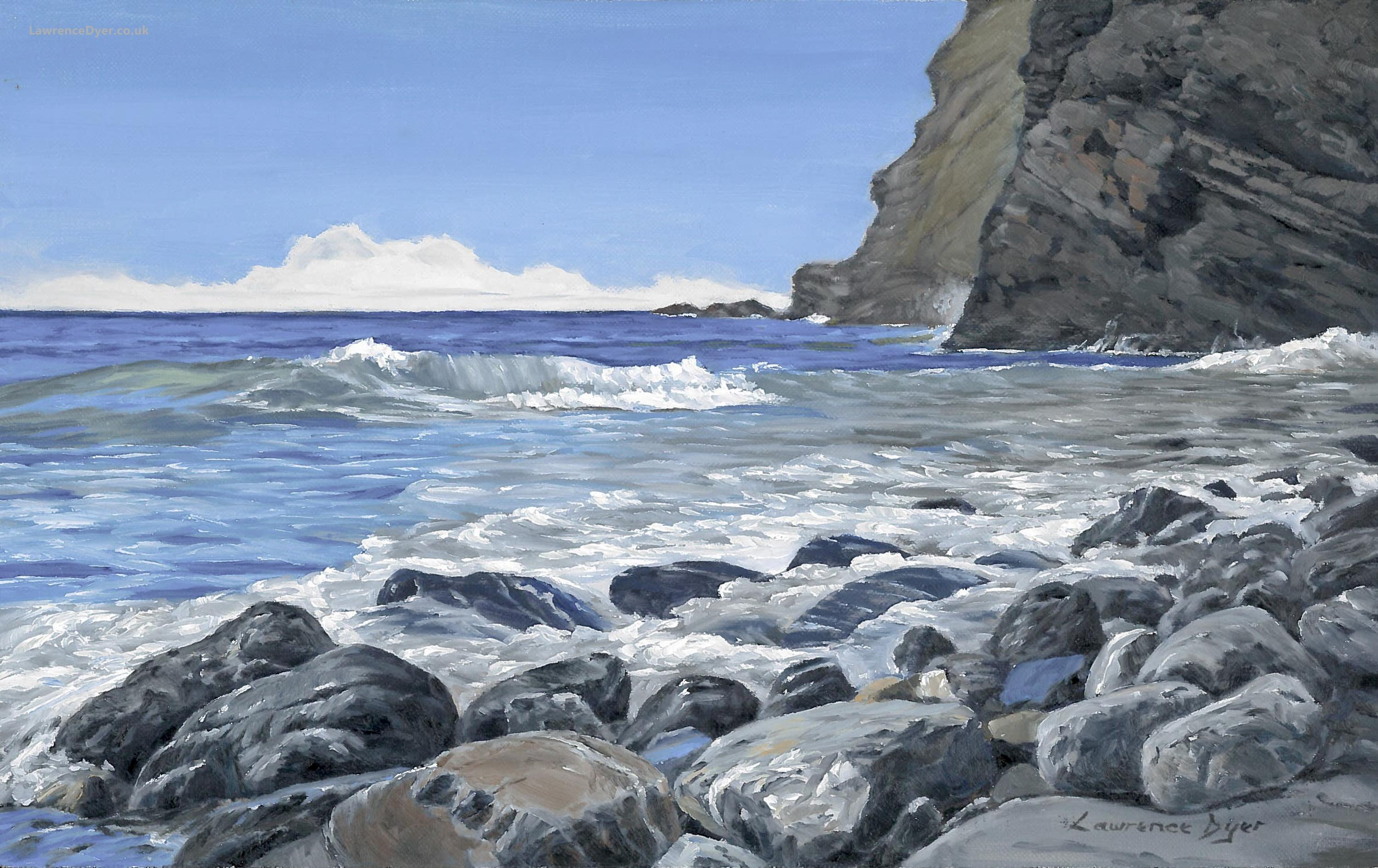 Sea Pounded Stones by Lawrence Dyer