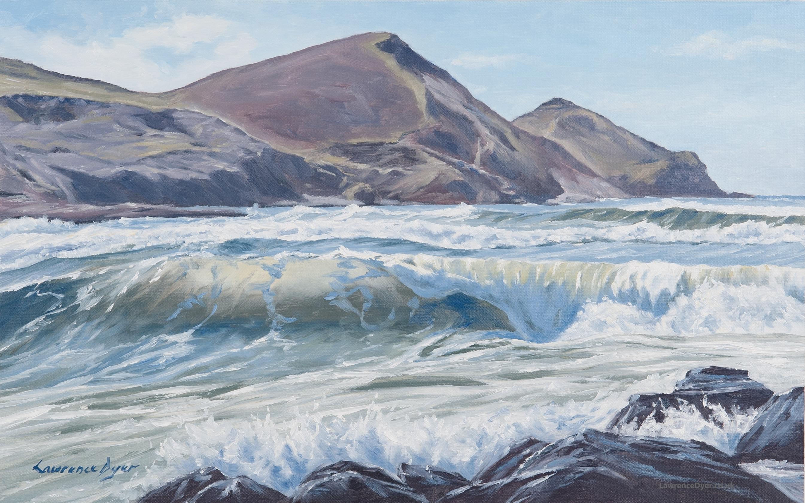 Translucent Wave Crackington Haven by Lawrence Dyer