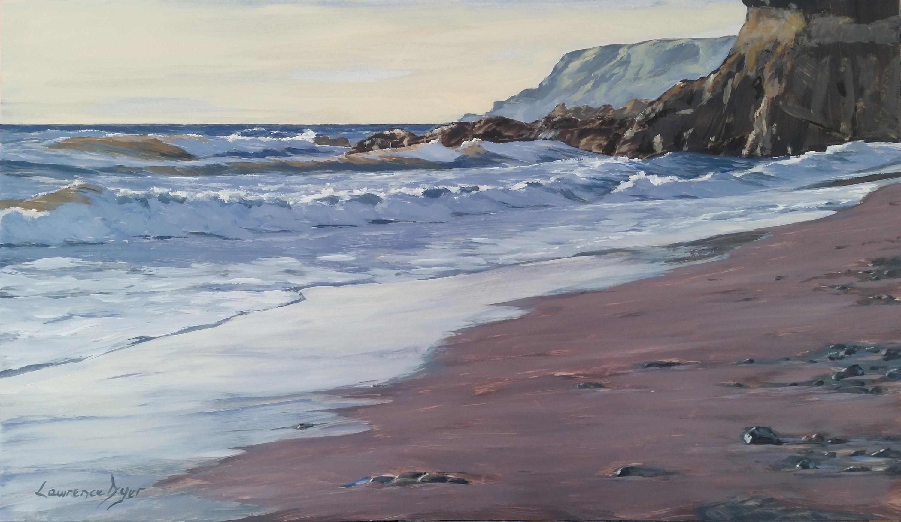 Widemouth Bay Breakers by Lawrence Dyer